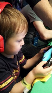 Samuel testing out Tearaway on PSVita